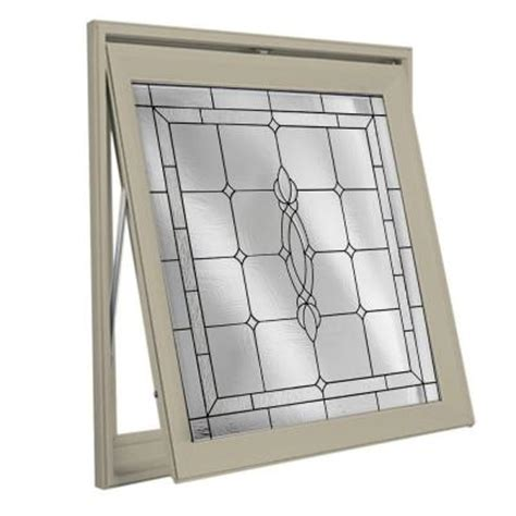 decorative glass awning vinyl window