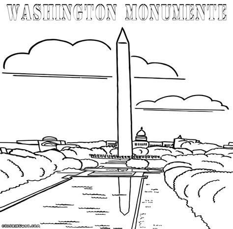 washington monument coloring lincoln memorial coloring