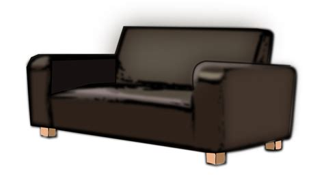 transparent couch free vector graphic couch furniture sofa free image