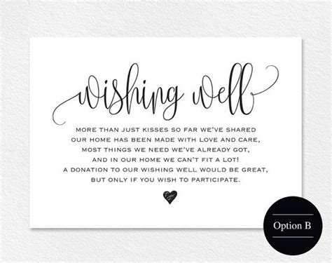 Wedding Wishes Poem by Wishing Well Card Wedding Wishing Well Wishing Well