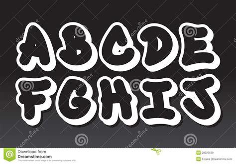 graffiti alphabet part  stock vector illustration