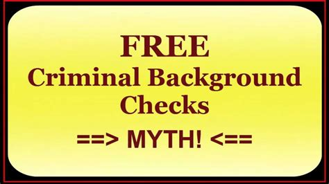 Do A Free Background Check Free Criminal Background Check Does Not Exist A Myth