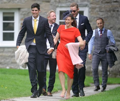 alastair cook wedding to alice hunt england cricket star ben stokes spotted with a bandage on his hand at wedding