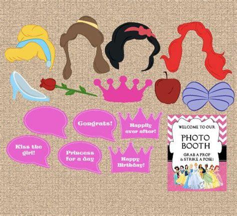 printable photo booth props disney printable disney princess photo booth props digital diy