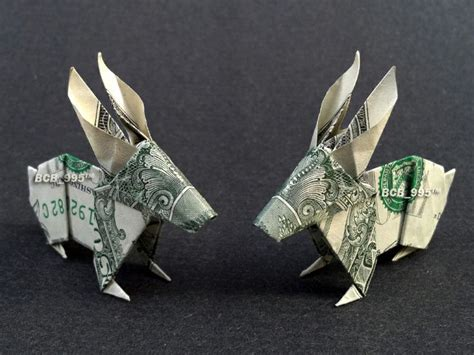 Money Origami Bunny - details about beautiful money origami pieces many