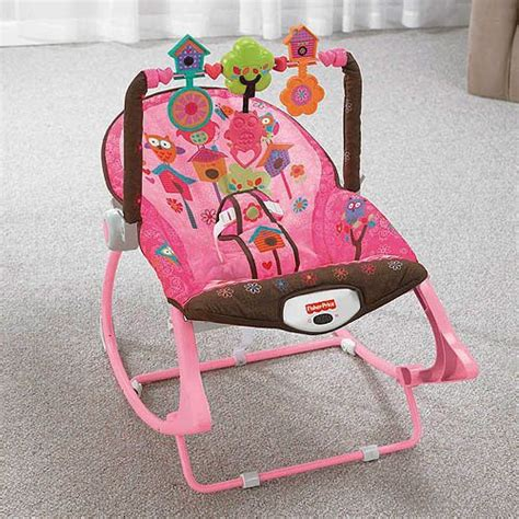 fisher price baby swing chair infant to toddler fisher price pink owl rocker bouncer