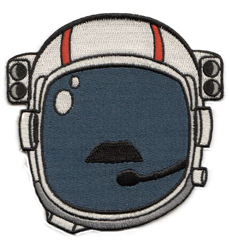 Patchwork Patches - space helmet moustache patch 171 spacepatches