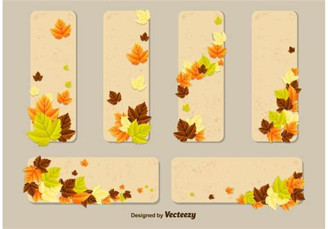 fall card template autumn leaves vector card templates free vector