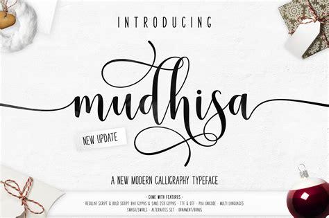 mudhisa script font befonts com