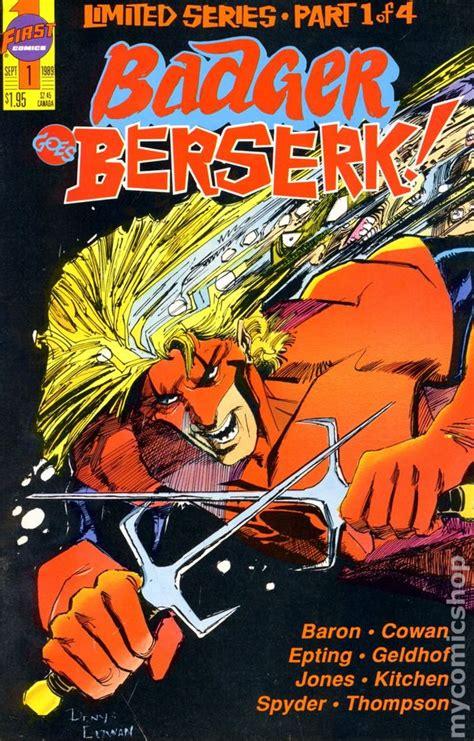 Goes Beserk by Badger Goes Berserk 1989 Comic Books