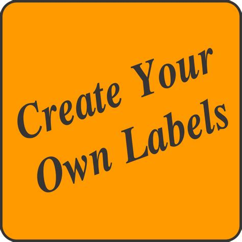build your own fluorescent light create your own fluorescent orange square labels