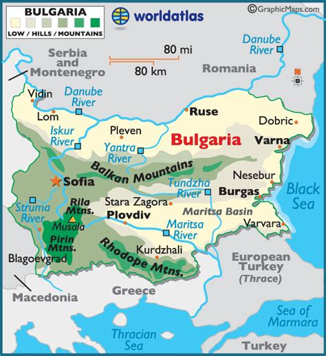 bulgaria on world map bulgaria large color map