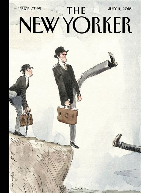 from the new yorker 2018 day to day calendar cover story barry blitt s silly walk a cliff the