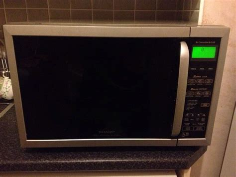 Oven Europa Jet Cook sharp jet convection grill microwave 900 watt platinum collection in airdrie