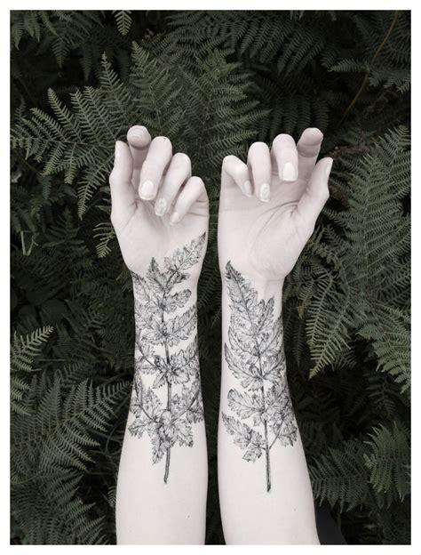 fern amp crystal temporary tattoo kit nature from the