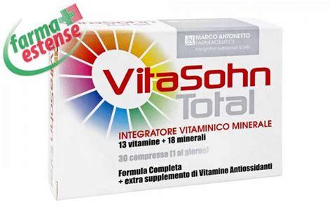 integratore alimentare completo vitasohn total integratore vitaminico minerale completo