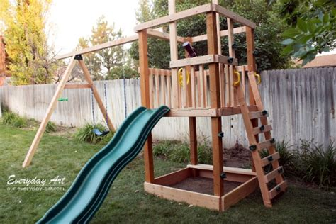 backyard swing set plans everyday art diy wooden swing set