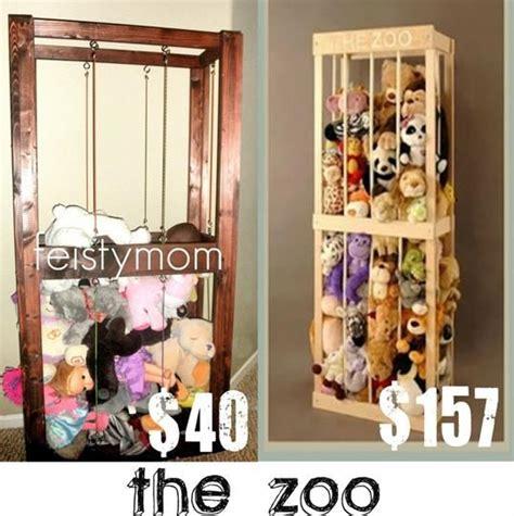 fave mom stuffed animal zoo cage tutorial zoo animals diy  kids diy