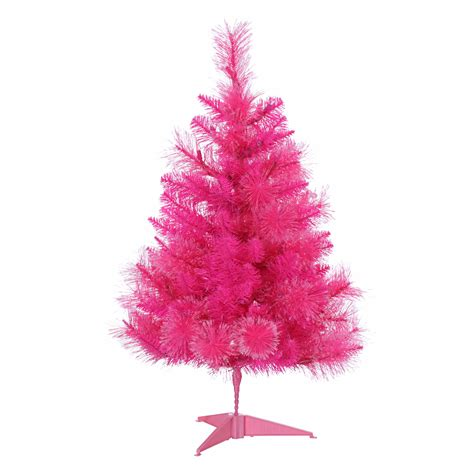 trimming traditions 3 pre lit pink christmas tree sears