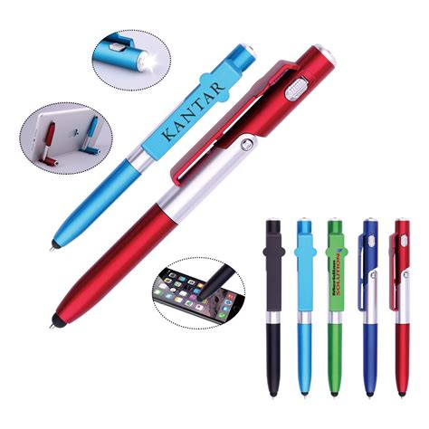 writing pen with led light unique design 4 in 1 stylus led light pen writing in the