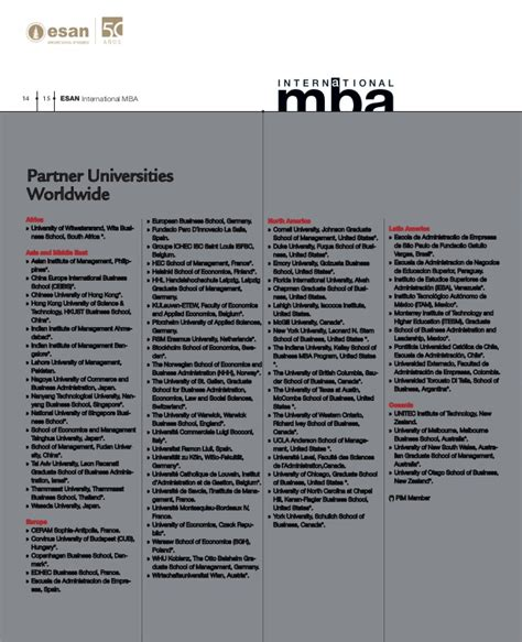 Mccombs Mba Brochure by International Mba Brochure