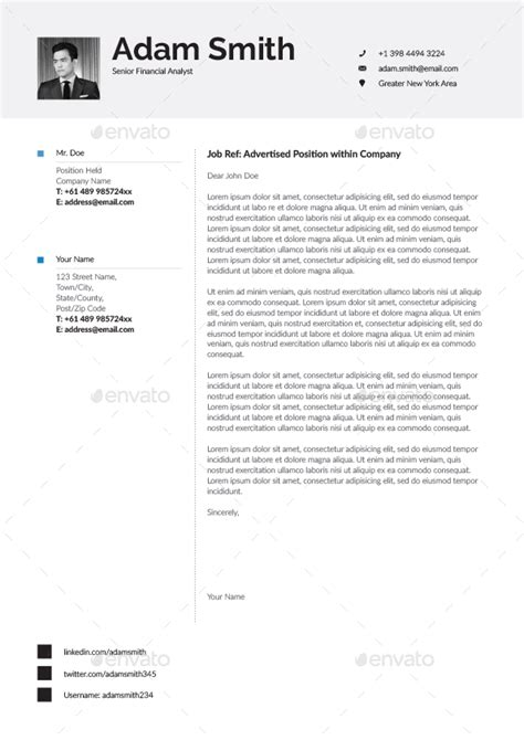 resume cv template word and indesign by paolo6180