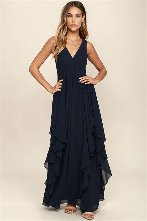 Dress Branded Simply Styled Navy Dress lovely navy blue dress maxi dress bridesmaid dress 92 00
