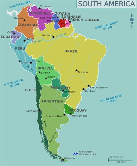 south america map in backpacking budget for south america myfunkytravel