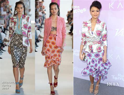 Catwalk To Carpet Thandie Newton Carpet Style Awards by Thandie Newton In Altuzarra Variety S Celebratory Brunch