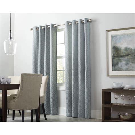 drapes of roth shop allen roth keldgate 84 in haze polyester grommet
