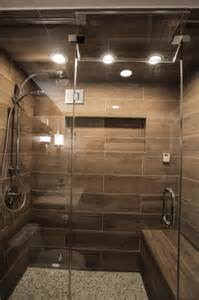 Contemporary spa shower with heated bench contemporary bathroom