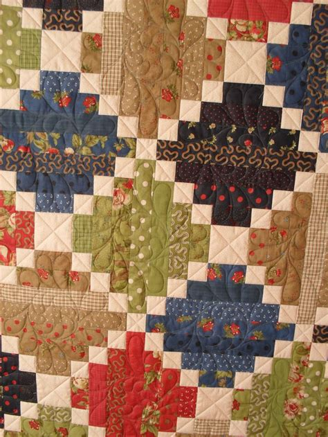 Scrap Patchwork - sdc10792 scrap log cabin quilts and patchwork