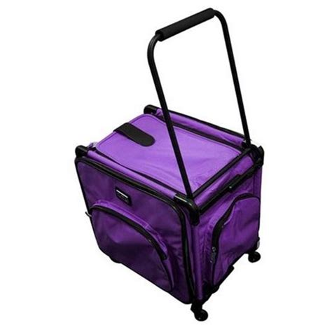 tutto 20 quot serger tote bag on wheels in purple machines