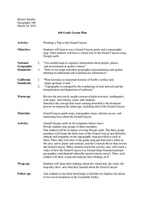 Biography Lesson Plan For 6th Grade | lesson plan 6th grade