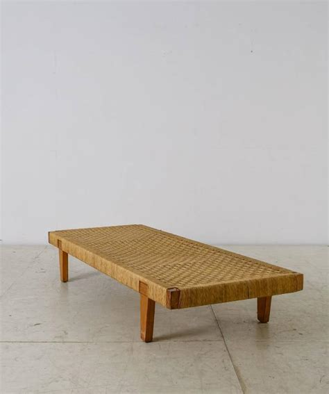 cane benches mexican wood and cane bench or daybed 1950s for sale at