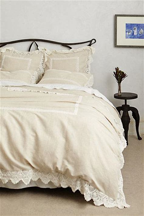 anthropologie coverlet lovenia ivory embellished duvet