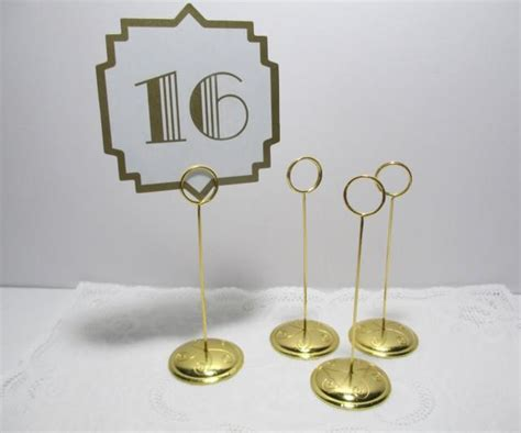table number card holders gold ring style table number stand card holder gold
