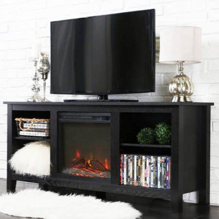 home loft concept tv stand with electric fireplace