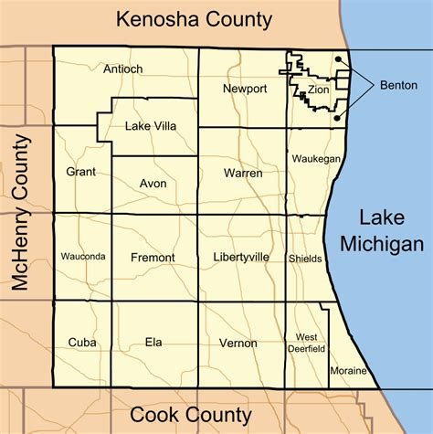 Lake County Il Search Lake County Illinois Map Images