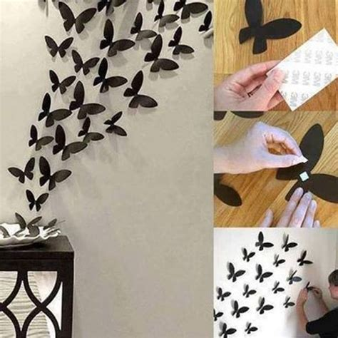 How To Make Paper Decorations For Your Room - a simple diy tip to add the of black butterflies to