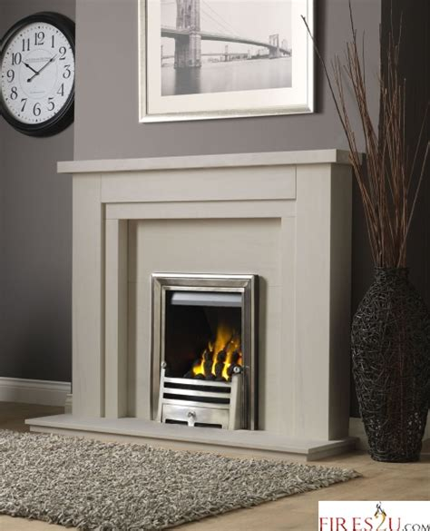 Fireplace Suites Gas by Pureglow Hanley Limestone Fireplace Suite And Gas