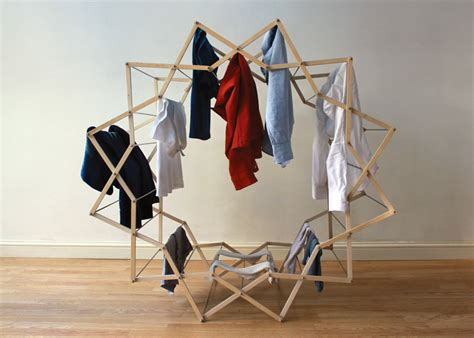 bedroom clothes horse star shaped clothes drying rack for small spaces captivatist