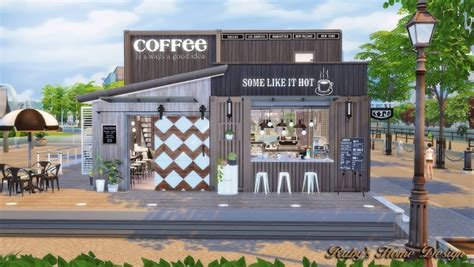 4 home design store ruby s home design container coffee shop sims 4 downloads