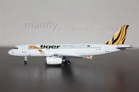 Mandala Tiger Air Diecast Miniatur Airbus A320 manfly aviation lounge mfg0009 aircraft miniature australia tiger airways a320 vh vnc 1