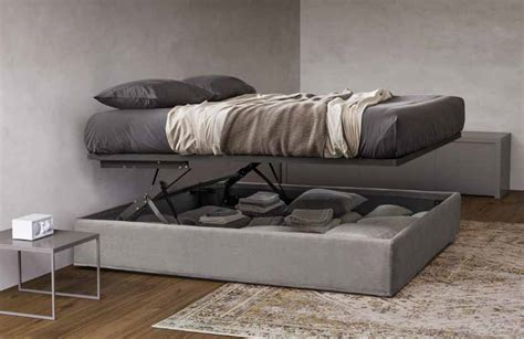 letto contenitore senza testata letto contenitore in legno tessuto pelle ecopelle