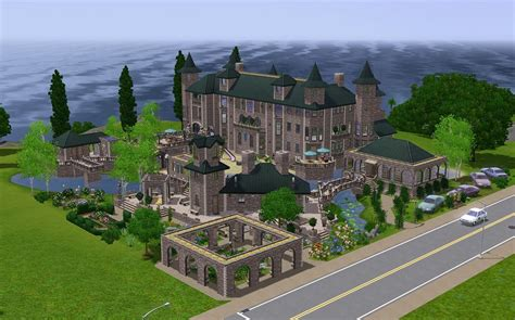 House Plans With Lots Of Windows mod the sims the fantasy mansion no cc