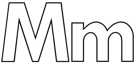 alphabet coloring pages m coloring pages