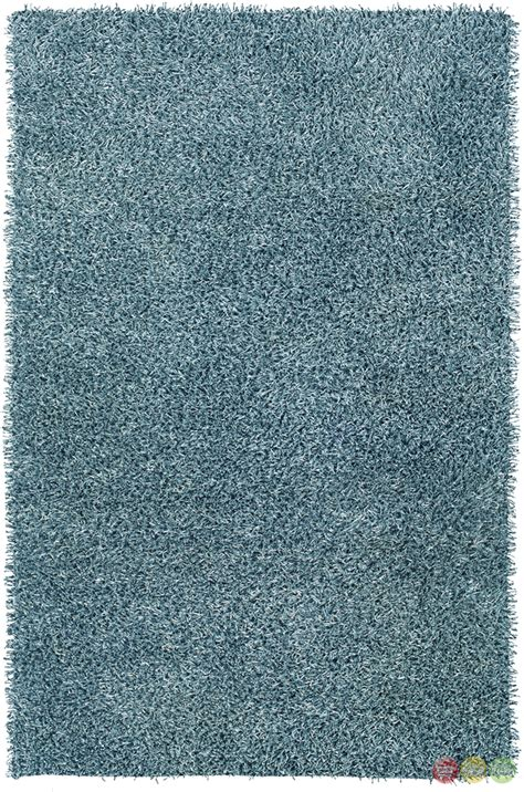 Blue Shag Area Rug by Rizzy Rugs Baby Blue Shag Tufted Area Rug Kempton Km1510