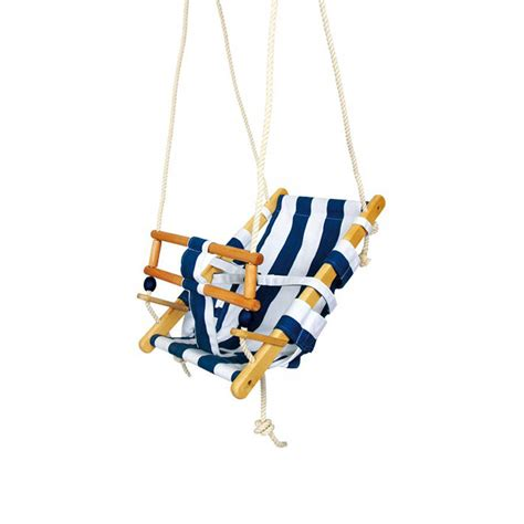wooden infant swing wooden nautical baby swing by harmony at home children s