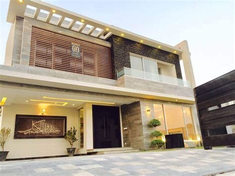 architectural design of 1 kanal house contemporary residence at dha phase 6 by galleria designs